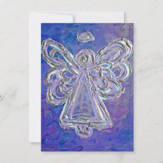 Purple Guardian Angel Custom Invites or Invitation