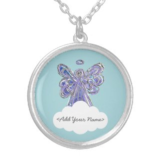 Purple Guardian Angel Series Cloud Custom Necklace