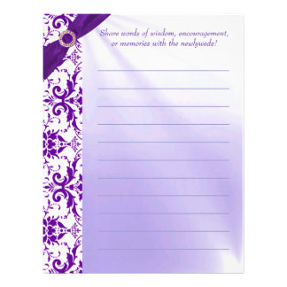 Purple Guestbook Paper Letterhead