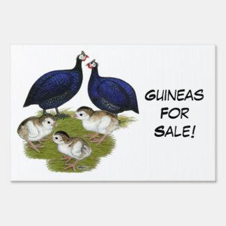 Purple Guinea Family Lawn Sign