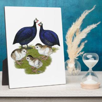 Purple Guinea Family Plaque
