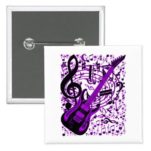 Purple Guitar_ Buttons