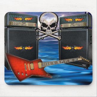 Purple Guitar Flaming Skulls & Amp... - Customized Mouse Pad