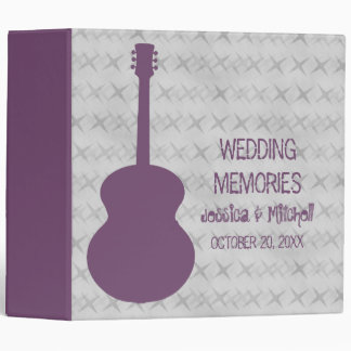 Purple Guitar Grunge Wedding Binder