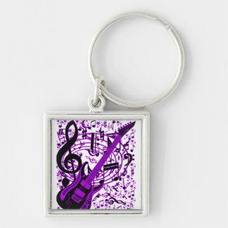 Purple Guitar_ Key Chains
