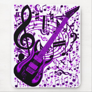 Purple Guitar_ Mouse Pad