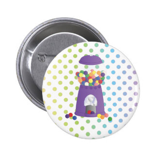 Purple Gumball Machine Pinback Buttons