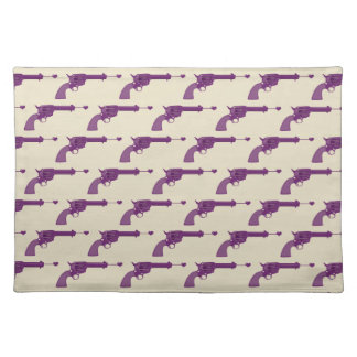 Purple Guns Cloth Placemat