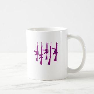 Purple guns coffee mug