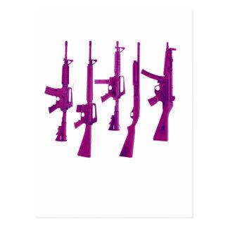 Purple guns postcard
