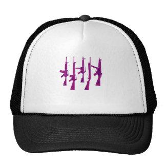 Purple guns trucker hats