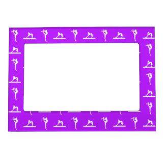 Purple Gymnastics Magnetic Picture Frame