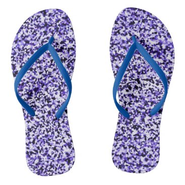 Beach Themed Purple Hail Flip Flops II