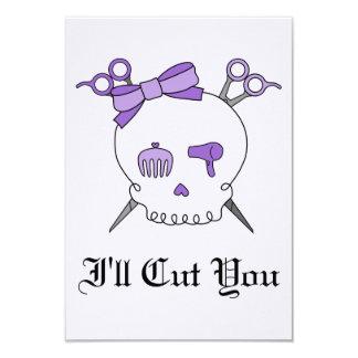 Purple Hair Accessory Skull -Scissor Crossbones #2 Card