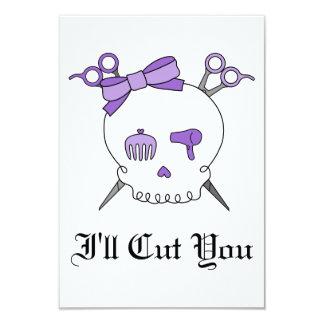 Purple Hair Accessory Skull -Scissor Crossbones Personalized Announcements