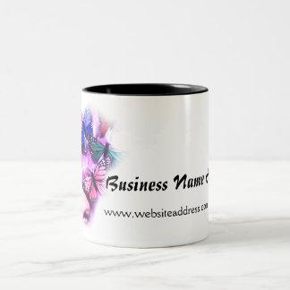 Purple Hair Butterfly Lady Coffee Mug