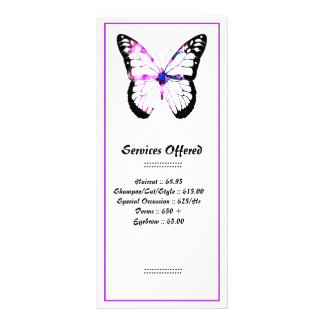 Purple Hair Butterfly Lady Services Rack Card 3