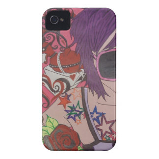 Purple Hair Girl Case-Mate iPhone 4 Case