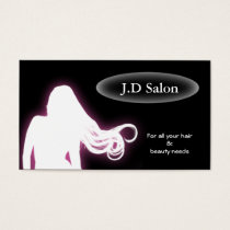 purple Hair Salon businesscards Business Card