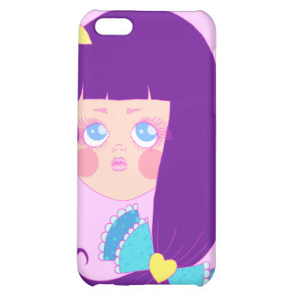 Purple haired girl iPhone 5C cover