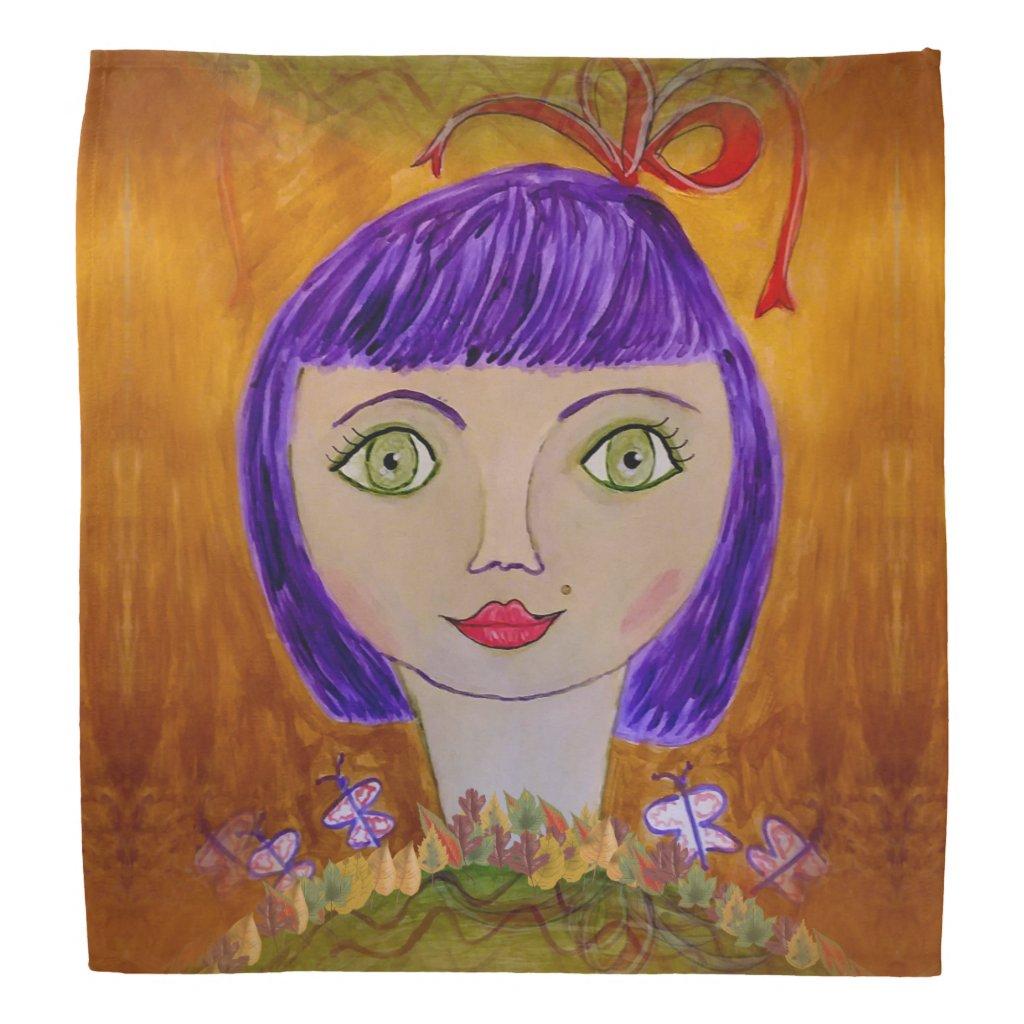 Purple Haired Girl on Bandana