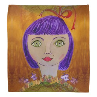 Purple Haired Girl on Bandana