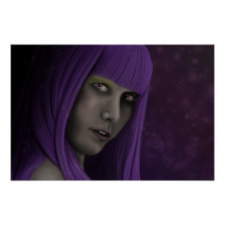 Purple haired mystic poster