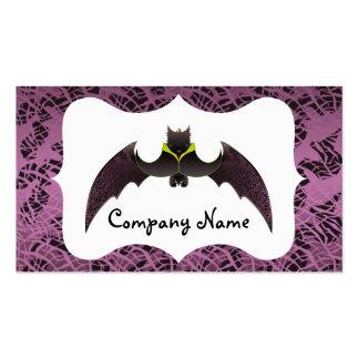 Purple Halloween Bat and Frame Business Card