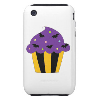 Purple Halloween Bats Cupcake iPhone 3 Tough Cover