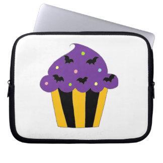 Purple Halloween Bats Cupcake Laptop Computer Sleeves