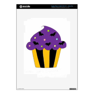 Purple Halloween Bats Cupcake iPad 3 Decal
