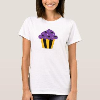 Purple Halloween Bats Cupcake T-Shirt