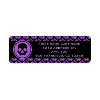 Purple Halloween design Label
