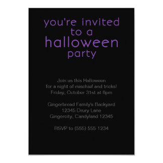 Purple Halloween Party Invite