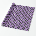 Purple Halloween skull pattern Wrapping Paper