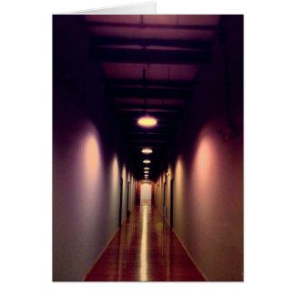 Purple Hallway Greeting Card