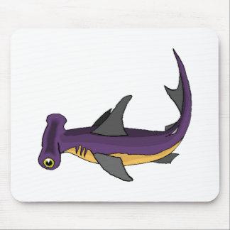 Purple Hammerhead Shark Mousepads