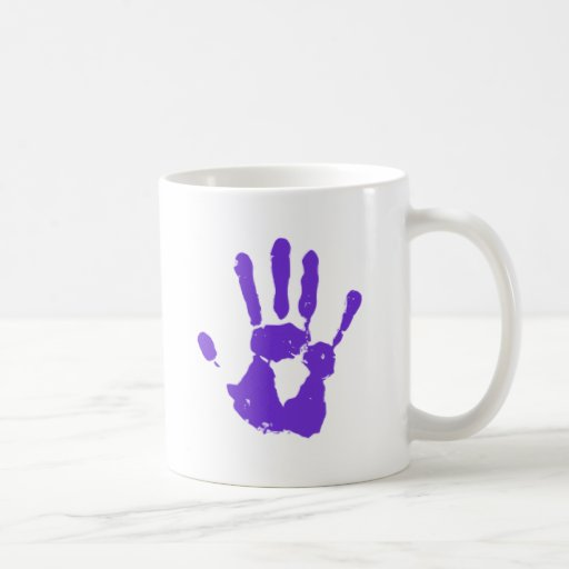 Purple Hand Coffee Mug