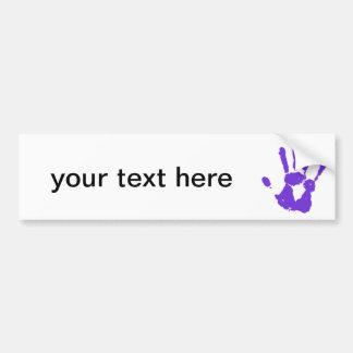 Purple Hand LGBT Gay Rights Symbol Bumper Sticker