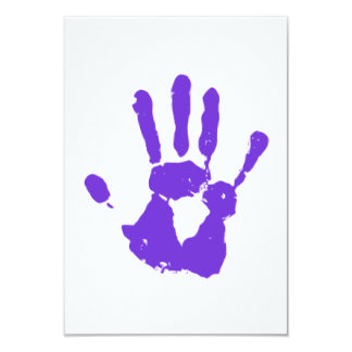 Purple Hand LGBT Gay Rights Symbol Card