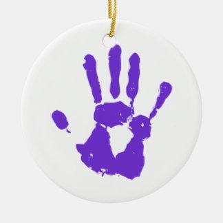 Purple Hand LGBT Gay Rights Symbol Ceramic Ornament