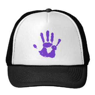 Purple Hand LGBT Gay Rights Symbol Trucker Hat