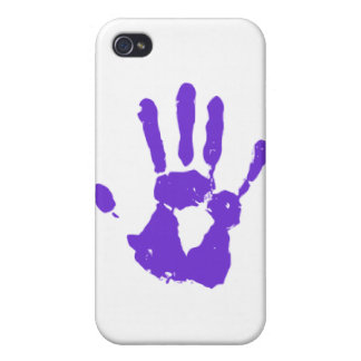 Purple Hand LGBT Gay Rights Symbol iPhone 4/4S Cases