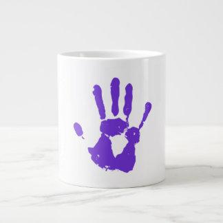 Purple Hand LGBT Gay Rights Symbol Large Coffee Mug
