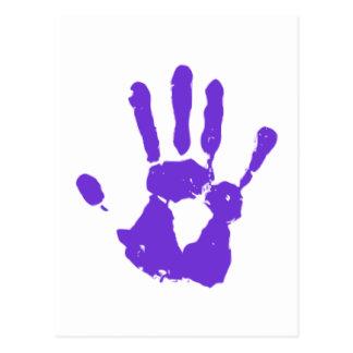 Purple Hand LGBT Gay Rights Symbol Postcard