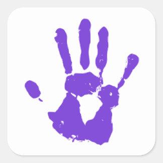 Purple Hand LGBT Gay Rights Symbol Square Sticker
