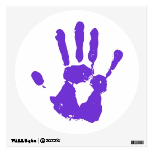 Purple Hand LGBT Gay Rights Symbol Wall Decal