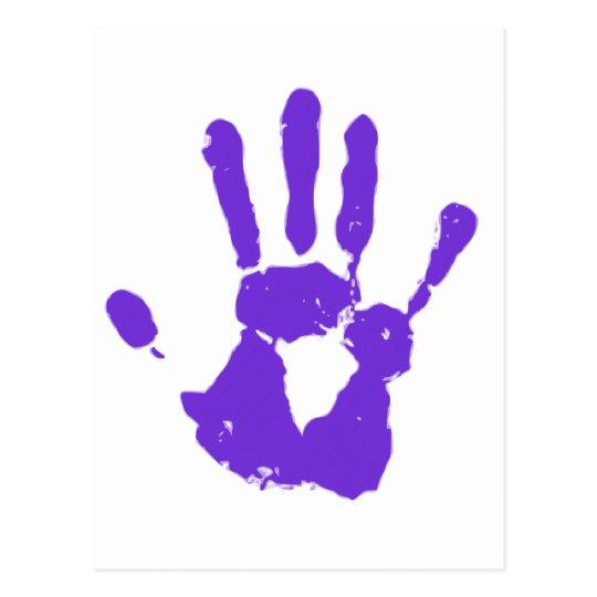 Purple Hand Postcard
