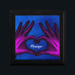"Purple Hand Xray Heart Gift Box<br><div class=""desc"">The fingers in this unique hand xray form a heart. Colored purple for fun.</div>"