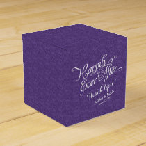 Purple Happily Ever After Personalized Wedding Favor Box
